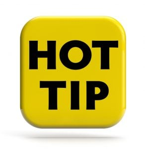 Hot Tip Sign Helpful Hints For Teaching in England x