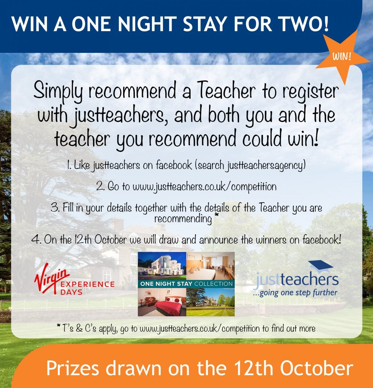 Recommend a friend and win a one night stay for two!
